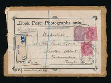 LIBRO India POST 1915 registrati Pacco Anteriore multan... KE7 + Kg5 franking misti