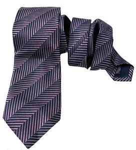 CANALI Made In Italy 100% Silk Woven Herringbone Men's Tie
