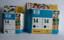 2006/2007 HP 14 Two Black, One Tri-Color Combo Pack Ink Cartridges Genuine Date