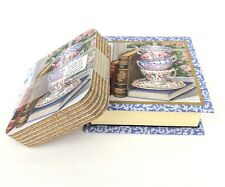 6 Coasters Set in a Keepsake Box Cork Backed, heat water resistant Legacy Group