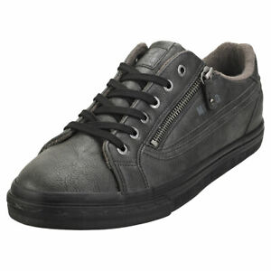 Mustang Lace Up Side Zip Mens Graphite Synthetic Fashion Trainers