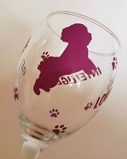 COCKERPOO Frieze Boxed 35cl Crystal Wine Glass