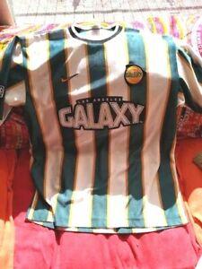 LA LOS ANGELES GALAXY 1997/1998 AWAY NIKE FOOTBALL SOCCER JERSEY SHIRT SZ L