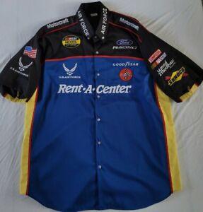 Ricky Rudd #21 Wood Brothers Racing NASCAR Pit Crew Shirt Size XL