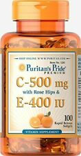 Vitmain C 500 mg & E 180 mg with Rose Hips for Immune & Antioxidant Support by P