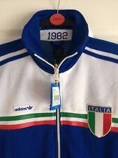 ADIDAS Originals VINTAGE ITALIA 1982 Track Top Jacket ITALIA CALCIO-CIRCONFERENZA PETTO 36