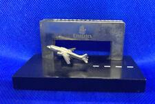 EMIRATES Desktop Business Card HOLDER travel agency advertising plane aviation