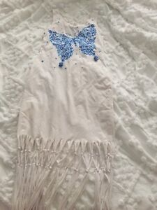 kate mack age 8 Beach Dress With Fringed Detail