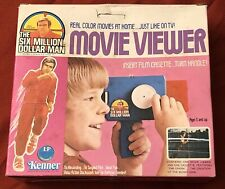 Vintage 1975 Kenner General Mills Movie Viewer The Six Million Dollar Man New