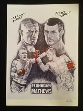 Boxing Signed By Terry Flanagan & Derry Matthews Art Print By Killian Art
