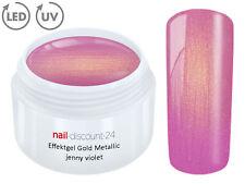UV LED Gel GOLD METALLIC PURPLE Effekt French Color Nail Art Modellage Lila Tips