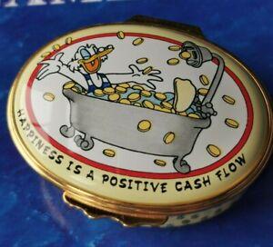 Halcyon Days Enamels DISNEY Happiness Is A Positive Cash Flow