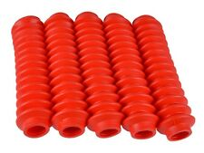 5 RED Shock Boots for Jeep Universal Off Road Vehicles - Fits most Shocks