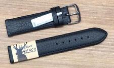 Fluco Terra-Hirschleder 18mm Black Deer Skin Leather Men's Watch Strap 394-01