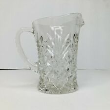 """Vintage Clear Small Cut Glass Pitcher/Creamer abt 5"""" Tall No Chips/Cracks Dainty"""