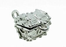 STERLING SILVER OPENING JEWELLED TREASURE CHEST CHARM