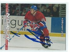 Ron Hainsey Signed 2003/04 In The Game Action Card #304