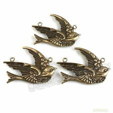 40pcs Fashion Antique Bronze Charms Swallow Shape Zinc Alloy Pendants Findings L