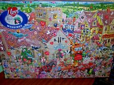 *MIKE JUPP -  I LOVE WEDDINGS* GIBSONS 1000 PIECES JIGSAW PUZZLE. NEW!