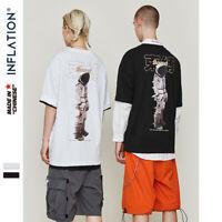 O-Neck Men's Summer Couple Tshirt Harajuku Streetwear Shirt Cotton Hiphop Top Te
