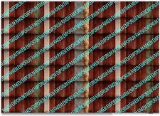 HO Scale Rusty Corrugated Iron High Definition Matte Photo Sheets 3 x A4 - CRSM2
