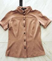 MARCCAIN Damen Bluse Jacke Kurzarm WILDLEDER LOOK N3 38 S M altrosé Shirt