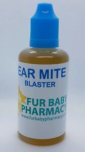 Cat, Dog, Horse Ear Drops For Ear Mites 100% NATURAL Ear Cleaner 30ML