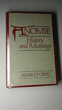 Anomie : History and Meanings by Marco Orru (1987, Hardcover)  205
