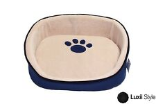 """15"""" Extra Small Soft Plush Cat Kitten Dog Puppy Pet Bed With Removable Cushion"""
