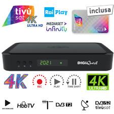 DIGIQUEST 4K HBBTV Q60 DECODER COMBO DVB-T2/S2 TIVUSAT ULTRA HD 4K UHD