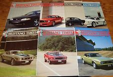 1996 Ford Mustang Times Magazine Vol 20 No 1 2 7 8 9 10 11 Lot of 7 96