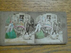 1860s Victorian Stereoview Early 'Rude' Seaside Humour Imagery.