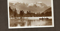 Switzerland Lake Champex and GrandCombin 4317mtr Sepia 1950's card unposted
