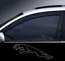 2 X logo de Jaguar Con Cristal Efecto ventana calcomanía, Adhesivo, gráfica
