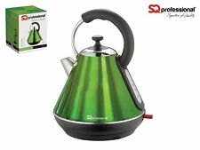 GREEN ELECTRIC KETTLE CORDLESS STAINLESS STEEL 360˚ PYRAMID JUG 1.8L 2200W