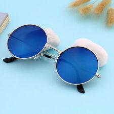 Hot Women Men Eyewear Corful Mirror Round Glasses Sunglasses Vintage DY Blue