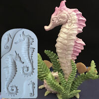 3D Sea Horse Silicone Fondant Mold Cake Decor Chocolate Sugarcraft Mould QK