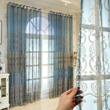 Semi-finished Drapes Curtains Fabric Cloth Voile Tulle Window Screen 1x2.7m Chic
