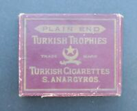 Boite publicitaire Cigarettes TURKISH TROPHIES ANARGYROS old box