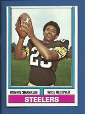 1974 Topps # 195 Ronnie Shanklin  Pittsburgh Steelers  NM+  additional ship free