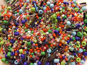 Mixed Colourful Seed beads bugles glass ceramic bead 10/0,11/0,6/0,2-4mm job lot