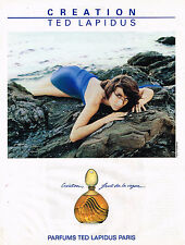 PUBLICITE ADVERTISING 054  1989  TED LAPIDUS  parfum CREATION