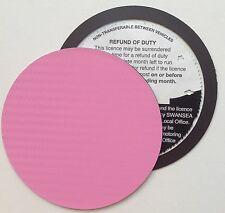magnetic tax disc holder PINK carbon fibre fits opel volkswagen vw volvo kit car