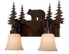 Bronze Sconce Wall Vaxcel Lighting Rustic Yellowstone Bozeman Bear VL55702BBZ