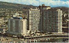 Waikiki Yacht Harbour at the foot of Ilikai 1960's pc