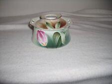 R S Germany Porcelain Tulip White Art Nouveau Vanity Hair Receiver