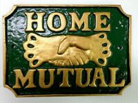 LARGE CAST ALUMINUM PLAQUE HOME MUTUAL FIRE INSURANCE REPLICA