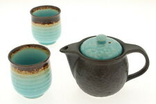 1x Japanese 1:2 Turquoise Sky  Tea set #110-600