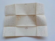 Antique Stampless Letter 1838 Otisfield Maine Gorham Brunswick College Patch VTG