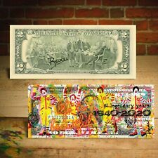 McDonald's Fast Food Chain 80th Anniversary Genuine $2 Bill Pop Art RENCY Signed